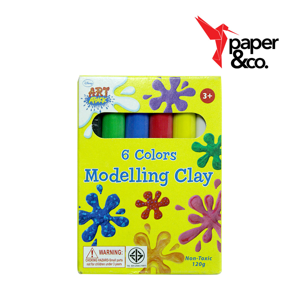 Paper&Co - Art attack Modelling Clay 6 Colors