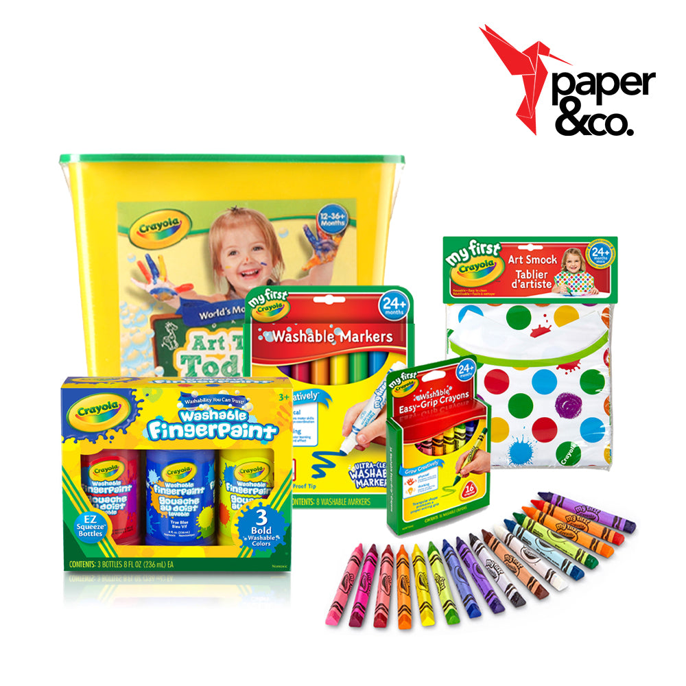 Paper&Co. - My First Crayola Art Tub for Toddlers
