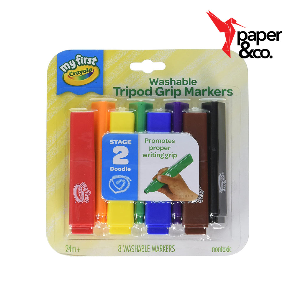 Paper&Co. - My First Crayola Washable Tripod Grip Markers