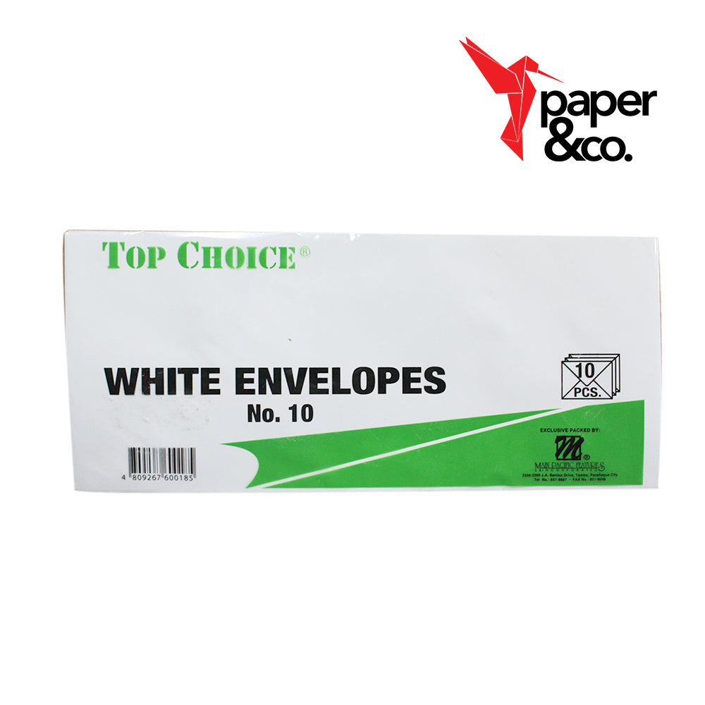 Paper&Co - No.10 White Envelop 10pcs