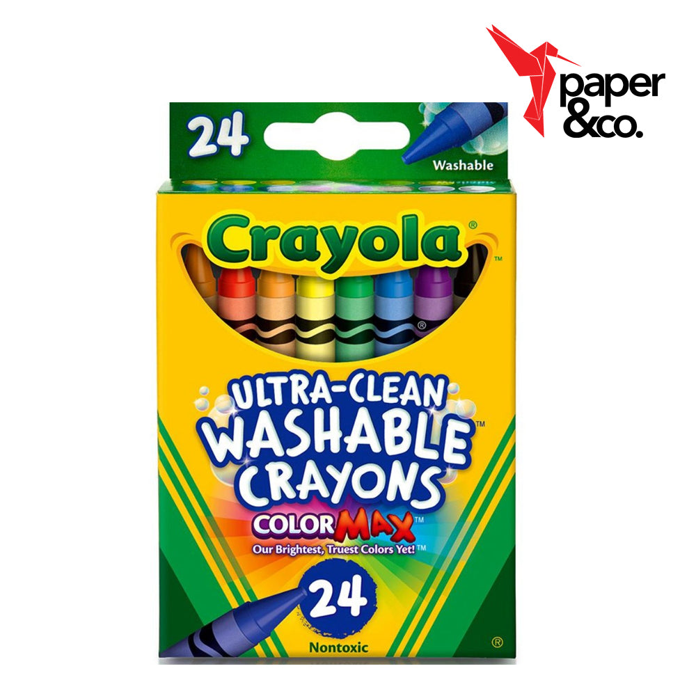 Paper&Co. - Crayola Ultra-Clean Washable Crayons 24ct