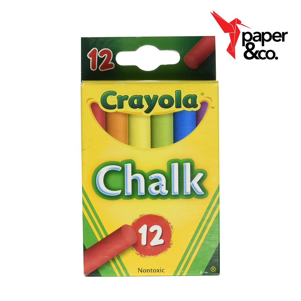 Paper&Co. - Crayola Multi-Colored Chalk 12ct
