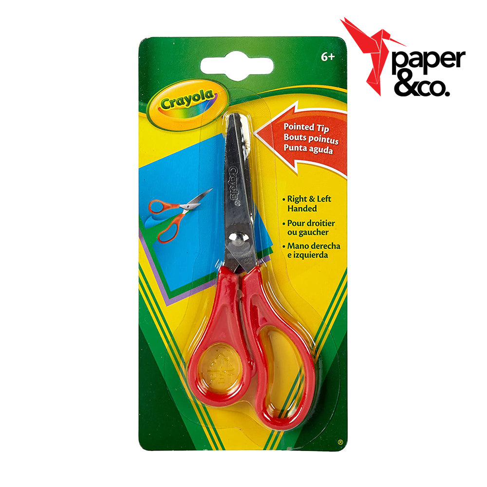 Paper&Co. - Crayola Red Pointed Tip Scissor