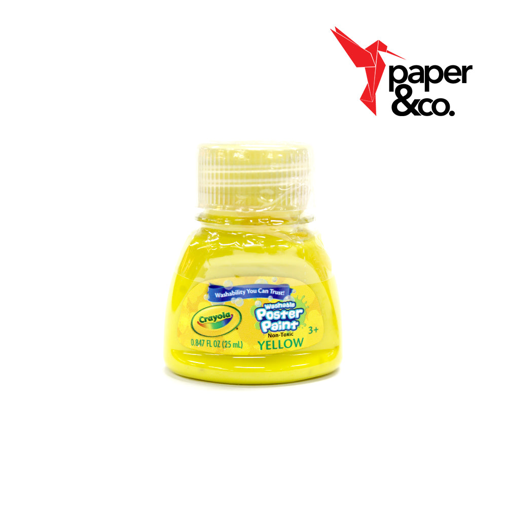 Paper&Co. - Crayola Washable Poster Paints 1oz Yellow