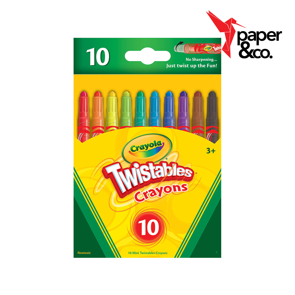 Paper&Co. - Crayola Mini Twistable Crayons 10ct