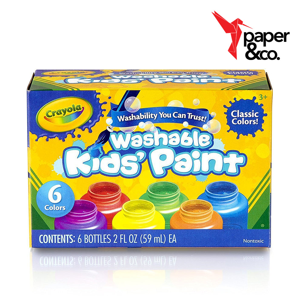Paper&Co. - Crayola Washable Kid's Paint 6 Colors