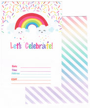 Load image into Gallery viewer, Magical Birthday Invitation and Thank You Cards