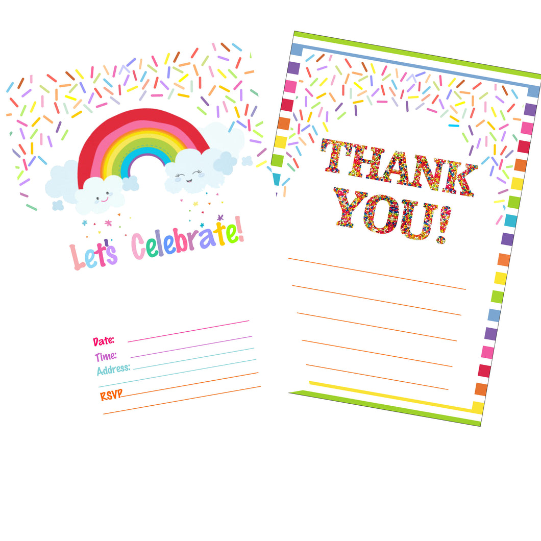 Magical Birthday Invitation and Thank You Cards