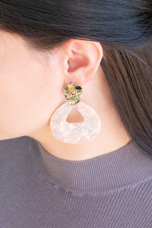 Island Pink Drop Earrings