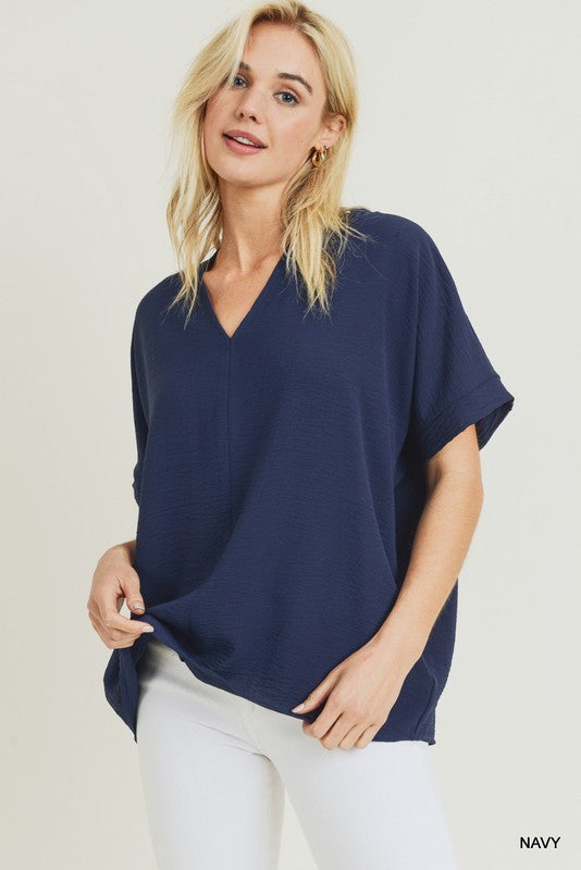 Work For It Navy Blouse