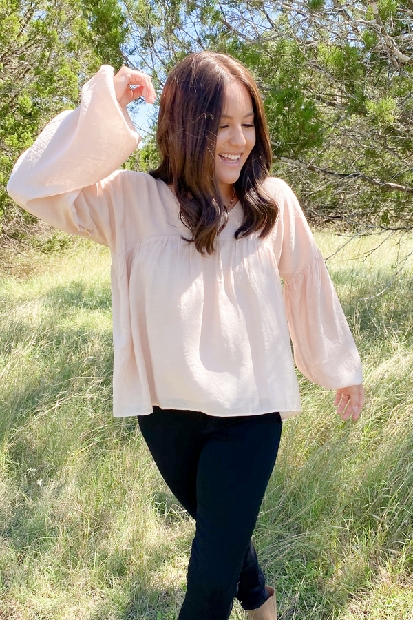 Parker Wide V-Neck Blouse