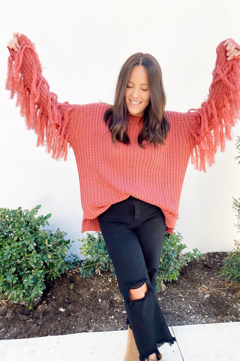 Let's Rodeo Fringe Sweater