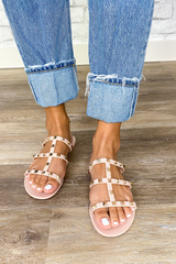 Dakota Studded Sandals | Tan