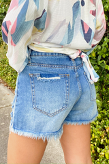 Isabel High Rise Denim Shorts
