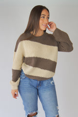 Hot Cocoa Color Block Sweater