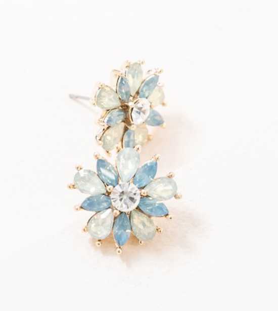 Amaryllis Stud Earrings | Blue