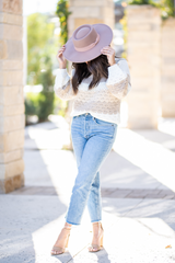 Nude Colorblock Sweater