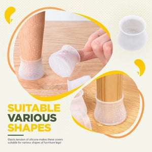 24 pieces of silicone protective sleeves just costs Only $9.9 today for chairs and furniture!