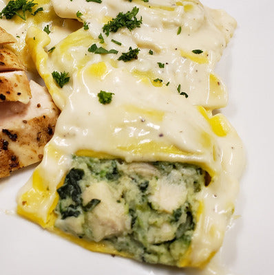 Pasta, Frozen Chicken/Spinach Ravioli - 72ct