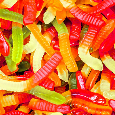 Candy, Gummy Worms - 5LB