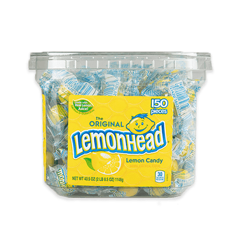 Candy, Large Lemon Heads Ind Wrapped - 150ct