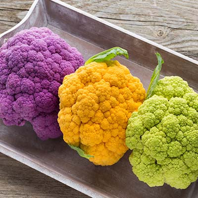 Cauliflower, Green, Purple, or Orange - each