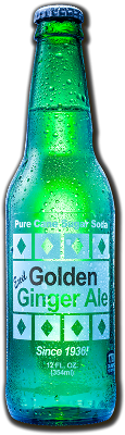 Soda, Excel Ginger Ale, Cane Sugar - 24/12oz bottles