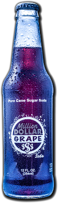Soda, Excel Million$Grape, Cane Sugar - 24/12oz bottles