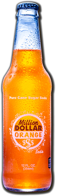 Soda, Million$Orange, Cane Sugar - 24/12oz bottles
