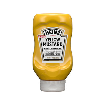 Mustard, Yellow, Heinz, Squeeze - 13oz or 16/13oz