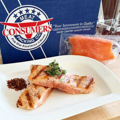 Salmon, Premium Canadian Fillets, Frozen - 8/6oz