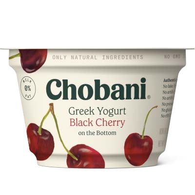 Yogurt, Chobani, Black Cherry Non Fat - 12/5.3oz