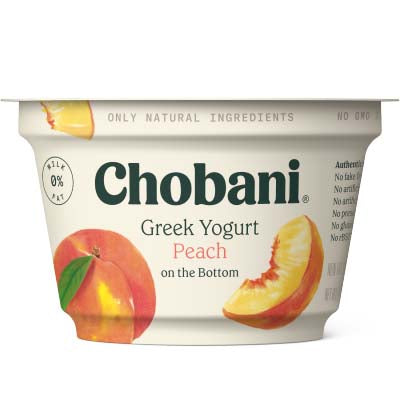 Yogurt, Chobani, Peach Non Fat - 12/5.3oz