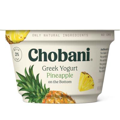 Yogurt, Chobani, Pineapple Low Fat - 12/5.3oz