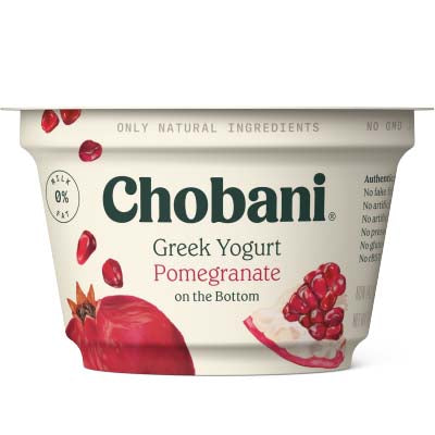 Yogurt, Chobani, Pomegranate Non Fat - 12/5.3oz