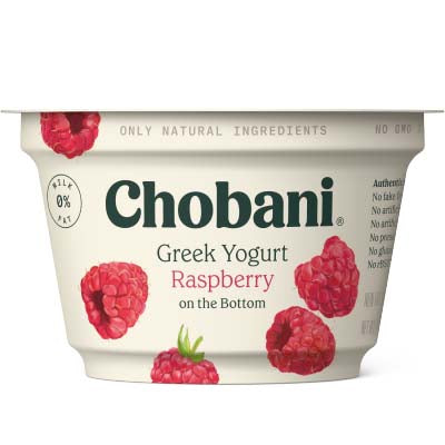 Yogurt, Chobani, Raspberry Non Fat - 12/5.3oz