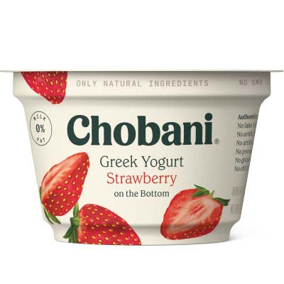 Yogurt, Chobani, Strawberry Non Fat - 12/5.3oz