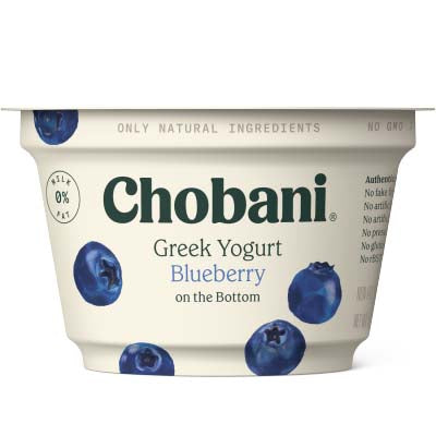 Yogurt, Chobani, Blueberry Non Fat - 12/5.3oz
