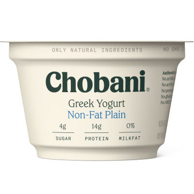 Yogurt, Chobani, Plain Non Fat - 12/5.3oz