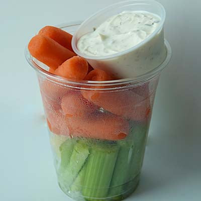 Grab & Go Snack, Carrot & Celery w/Dill Dip, 7oz - each