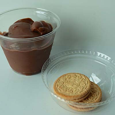 Grab & Go Snack, Chocolate Pudding w/Cookies - each
