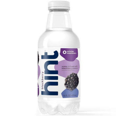 Water, Hint Blackberry Flavor - 12/16oz