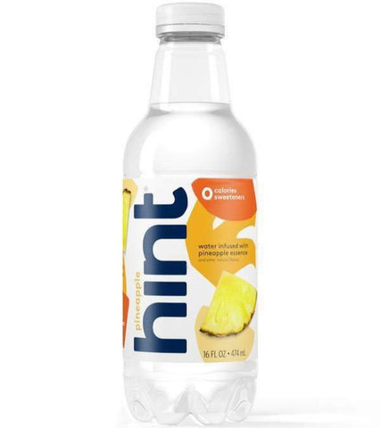 Water, Hint Pineapple Flavor - 12/16oz