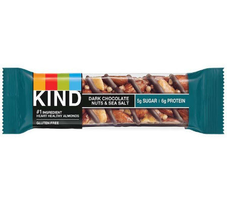 Bar, Kind, Dark Chocolate Nuts & Sea Salt  - 12/1.4oz