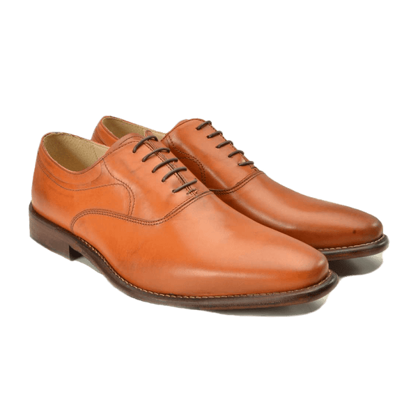 Tan Lace Up Leather Shoes - Gagliardi
