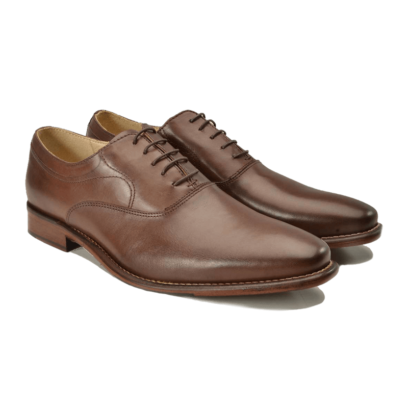 Brown Lace Up Leather Shoes - Gagliardi