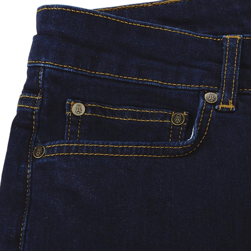 Dark Blue Washed Jeans - Gagliardi