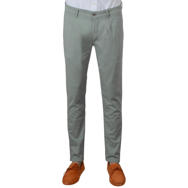 PANTALONE CHINO MINT ZELENA RIBLJA KOST  GARMENT DYED/WASHED