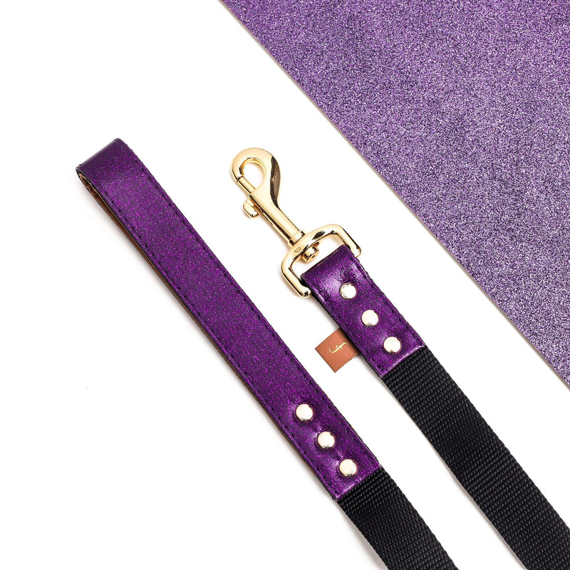 The Sparkling Pup: Glitter Purple - Leash