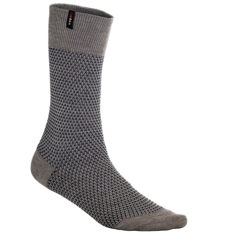 Merino Blend Moss Stitch Socks (Charcoal/Navy)